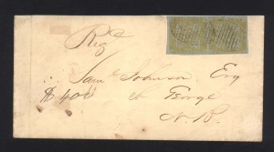 New Brunswick #2 XF Pair On Cover  **With Certificate**