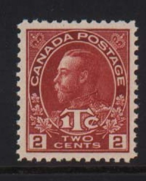 Canada #MR3a XF/NH Gem  **With Certificate**