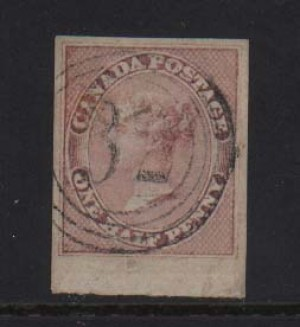 Canada #8 Used Superb Gem With Ideal 4 Ring 32 Cancel **With Certificate**