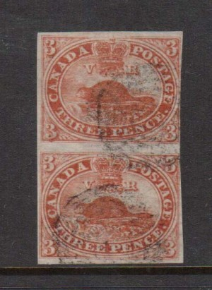 Canada #4d #4dxiii Used Vertical Pair  **With Certificate**