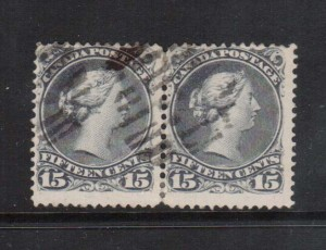 Canada #30c Used Pair  **With Certificate**