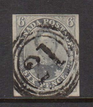 Canada #5d VF Used With 4 Ring 21 Cancel **With Cert.**