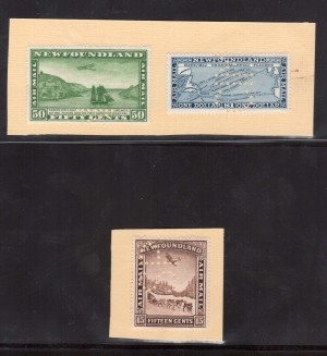 Newfoundland #C6SP - #C8SP XF Mint Perforated Specimen Set