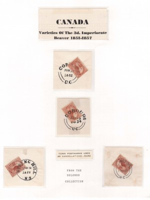 Canada #4 VF Used Four Variety Examples With Town Cancels