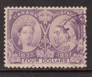 Canada #64 XF Used With Magenta Cancel  **With Certificate**
