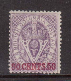 British Columbia #12 Mint  **With Certificate**
