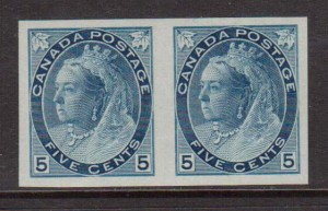 Canada #79a XF/NH Imperforate Pair  **With Certificate**