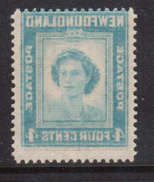Newfoundland #269iv VF/NH With Offset Image On Gum Side Variety  **With Cert.**