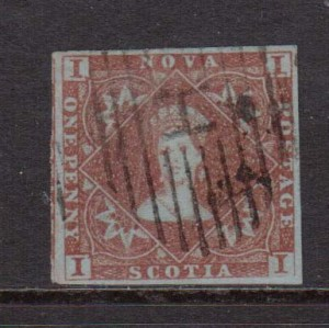 Nova Scotia #1 XF Used  **With Certificate**