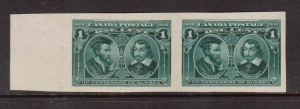 Canada #97a XF Mint Imperforate Pair