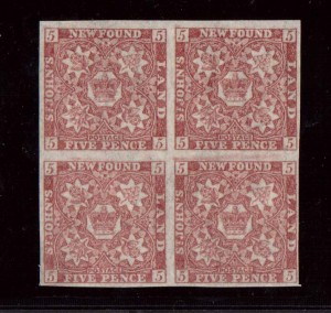 Newfoundland #19a VF/NH Block  **With Certificate**