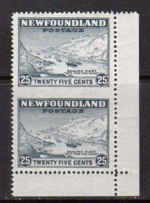 Newfoundland #197c XF Mint Imperf Pair **With Certificate**