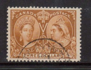Canada #63 XF Used Huge Margin Gem  **With Certificate**