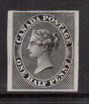 Canada #8TCii VF Plate Proof In Black