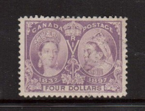 Canada #64 Used With Very Light Magenta Cancel  **With Certificate**