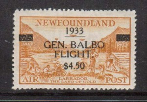Newfoundland #C18 VF/NH  **With Certificate**