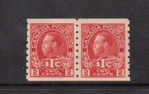 Canada #MR6 XF/NH Rare Coil Pair **With Certificate**