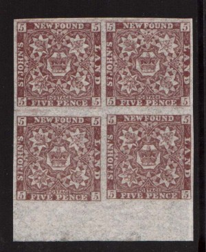 Newfoundland #12a XF/NH Gem Block  **With Certificate**