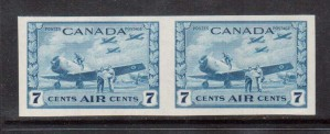 Canada #C8a XF/NH Imperforate Pair **With Certificate**