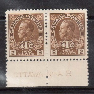 Canada #MR4a XF Mint Plate #2 Pair **With Certificate**