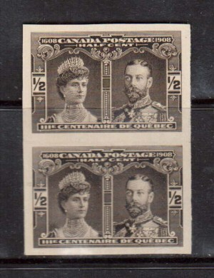 Canada #96a XF Mint Imperf Pair