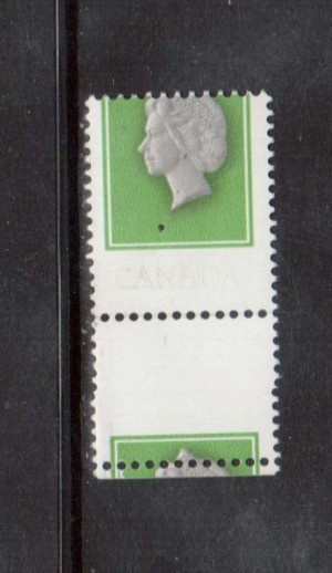 Canada #789d XF/NH With Inscriptions Omitted & Printing Shift **With Cert.**
