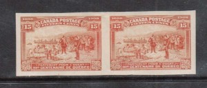 Canada #102a XF Mint Imperforate Pair **With Certificate**