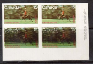 Canada #614a XF/NH LR Imperf Variety Plate Block