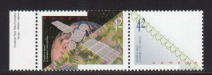 Canada #1442b XF/NH Pair With Hologram Omitted **With Certificate**