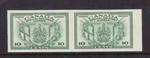 Canada #E10a XF/NH Imperforate Pair  **With Certificate**