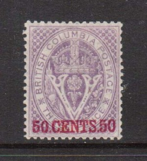 British Columbia #12 XF Mint  **With Certificate**