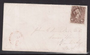 Canada #27ii Used On Scarce Cover **With Certificate**