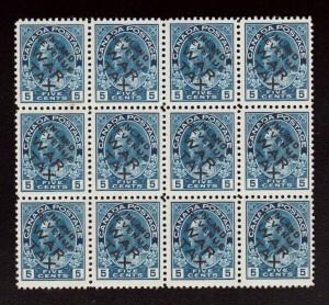 Canada #MR2bi NH Mint Block Of 12  **With Certificate**