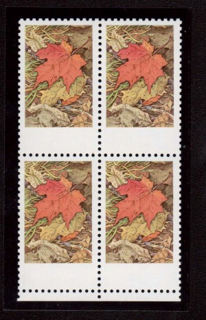 Canada #537i XF/NH Missing Grey Inscriptions In Block **With Cert.**