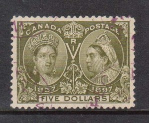 Canada #65 XF Used Gem With Light Magenta CDS Cancel *With Cert.*
