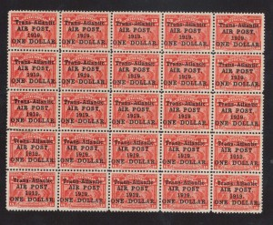 Newfoundland #C2 VF Mint Rare Full Sheet Of 25