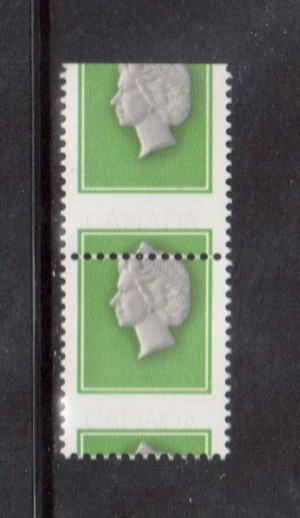 Canada #789d XF/NH Rare Error Black Inscriptions Omitted & Printing Shift Pair *W\ Cert.*