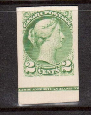 Canada #36P XF Plate Proof Showing BABN Imprint