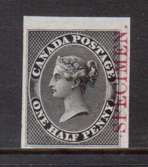 Canada #8TCii VF Plate Proof In Black On India Paper