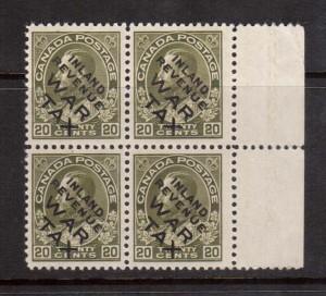 Canada #MR2ci NH Mint Block **With Certificate**