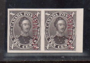 Canada #16Pi XF Proof Pair In Issued Color India On Card