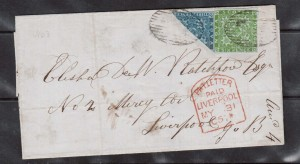 Nova Scotia #3a & #4 VF Used Bisect On Cover **With Certificate**