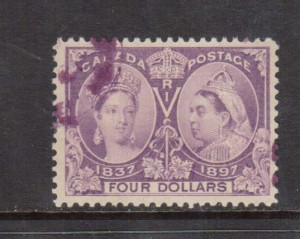 Canada #64 VF Used With Magenta Cancel **With Certificate**