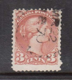Canada #37d Used Dated March 22 1870 **With Certificate**