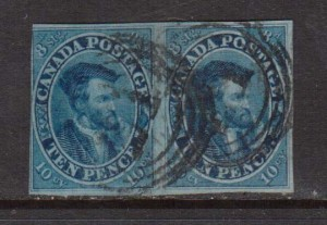 Canada #7 Used Scarce Pair **With Certificate**