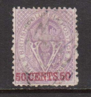 British Columbia #17 VF Used **With Certificate**