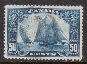 Canada #158iii VF Used Man On Mast Variety **With Cert.**