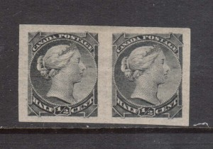 Canada #21a,vii Mint Pair **With Certificate**