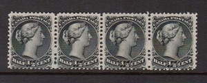 Canada #21 #21ii #21iv NH Mint Rare Variety Strip Of Four **With Cert.**