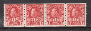 Canada #MR6 VF Mint Coil Strip **With Certificate**